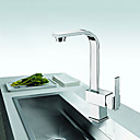 Solid Brass Contemporary Single Handle Kictchen Faucet(Chrome Finish)
