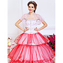 Excellent Short Sleeve Soft Tulle Wedding/Evening Jacket/Wrap With Embroidery (More Colors)