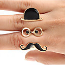 Black Cap Bril Sik Shape Ring