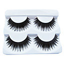 2Pair Black Fiber eyelash False Eyelashes