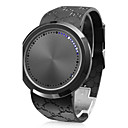 Touch Screen Creative Blue LED Flashing Wristband Watch