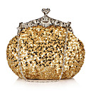 Shining Satin with Sequins Evening Handbag/Clutches(More Colors)