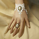 Women's Vintage Lace Layered Flower Bracelet/Ring