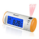 4&quot; LCD Backlit Sound Activated Digital Alarm Clock Calendar Thermometer with Time Projection (Random Color)