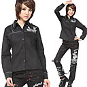 Darkness Skull Long Sleeve Cotton Punk Lolita Shirt(2 Colors)