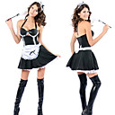 Sexy Girl Black and White Polyester French Maid Uniform(3 Pieces)