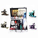 4 Tattoo Machine Guns Kit for Lining and Shading with 8 Colors Ink