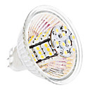 MR16 3.5W 54x3528 SMD 240-260LM 3000-3500K Warm White Light Bulb Milho LED (12V)