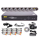 MHK  -16 Canal One Touch-Online CCTV sistema DVR (8 Cmera exterior Warterproof)