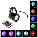 Waterproof 10W RGB Light Remote Controlled LED Spot lamp (12V)