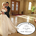 Personalized &quot;Just Married&quot; Wedding Dance Floor Decal (More Colors)