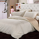 Jacquard Beige Floral Full 4-Piece Duvet Cover Set