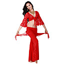 Performance Dancewear Lace and Crystal Cotton with Coins Belly Dance Outfits For Ladies More Colors