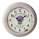 "12.75"" Lavender Metal Wall Clock"