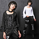 Flare Sleeve Pure Color Cotton Gothic Lolita Blouse with Ribbon(2 Colors)