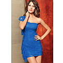 Women's Blue Sexy Lace One Shoulder Dress(Bust:87-104,Waist:70-94,Hip:90-112,Length:82-103CM)
