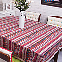 Stripe Cotton Linen Blend Table Cloths