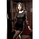 Women's Elegant Bow Lace Black Dress(Length:64cm  Bust:86-102cm  Waist:58-79 Hip:90-104cm)