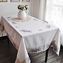 Purple Classic Polyester Cotton Floral Table Cloths