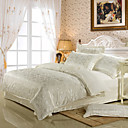 Molly Jacquard Full / Queen 4-Piece Duvet Cover Set
