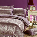 Sophie Jacquard Full / Queen 4-Piece Duvet Cover Set