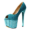 Elegant Leather Stiletto Heel Peep Toe Pumps With Rivet Party/Evening Shoes