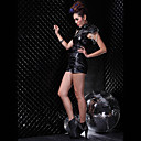 Sexy Black PU Cuir Punk &amp; Rock Theatrical Costume (3 Pieces)