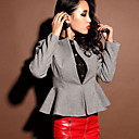 Women's Tweed Jacket with Peplum