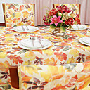 Country Multi-color Polyester Cotton Blend Print Floral Table Cloths