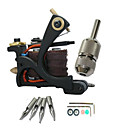 Cast Iron Hand-assembled 10-Wraps Tattoo Machine Gun for Liner and Shader
