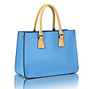 Women's Novelty Contrast Color PU Tote