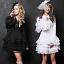 Elegant Long Sleeve Short Pure Color Cotton Princess Lolita Dress