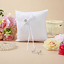Pretty Wedding Ring Pillow Coverd With Lace