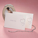 Simple Folded Wedding Invitation With Interlocking Hearts (Set of 50)