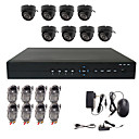 8 CCTV Canal Home Security System con 8 Indoor Cámara Sony CCD