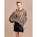 Rabbit Fur Daily Wear Poncho/ Hood