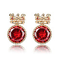 Unique 18K Gold Plated CZ Cubic Zirconia Earring(More Colors)
