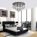 100W Modern Elegant Ceiling Light with 5 Lights in Crystal Beaded Design