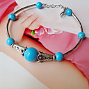 Simple Light Dames Blue Balls zilveren armband