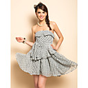 TS Polka Dots Bow Strap Dress