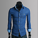 Mannen Slim Denim Shirt
