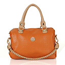 Women's Korean Retro Style Chain PU Satchel(33*34*5cm)