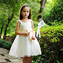 Sweet Straps Satin/Tulle Wedding/Evening Flower Girl Dress