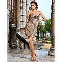 Beautiful Sheath/Column Strapless Short/Mini Taffeta Cocktail Dresses