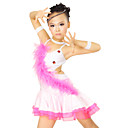 Performance Dancewear Spandex and Satin with Ostrich Hair and Tulle Latin Dance Dress For Children More Colors