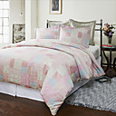 3PCS Dhanna Patchwork Jacquard Duvet Cover Set
