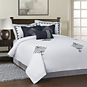 3PCS Satin Embroidery Cotton Duvet Cover Set