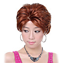 Capless High Quality Synthetic Short Curly Mixed Color Hair Wigs
