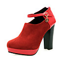 Suede Chunky Heel Ankle Boots With Buckle Party / Evening Shoes (More Colors)