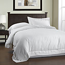 3PCS Stacked Border Garment Wash Linen Duvet Cover Set